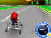 Play Mario shopping kart race