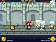 Paper Mario fights zombies